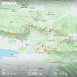 30 km, 2200m uspona i 6:30 sati.. tako Strava kaže